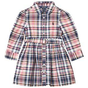 Ralph Lauren Girls Dresses Pink Pink and Multi Madras Plaid Short Dress