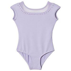 Bloch Girls All in ones Purple Lilac Fremont Pearl Studded Neckline Cap Sleeve Leotard