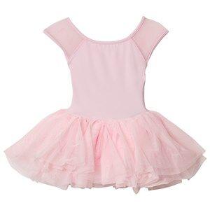 Bloch Girls Dresses Pink Pink Benoit Vine Flock and Cap Sleeve Tutu Dress