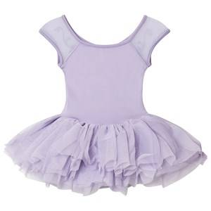 Image of Bloch Girls Dresses Purple Lilac Benoit Vine Flock and Cap Sleeve Tutu Dress