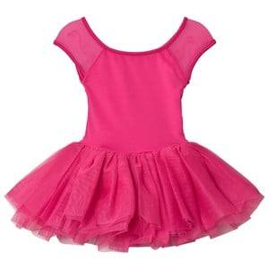 Image of Bloch Girls Dresses Pink Hot Pink Benoit Vine Flock and Cap Sleeve Tutu Dress