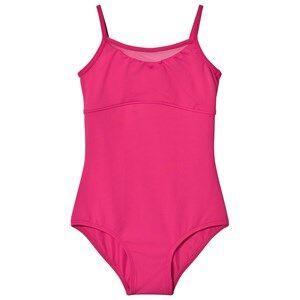 Image of Bloch Girls All in ones Pink Hot Pink Alita Vine Flock Camisole Leotard