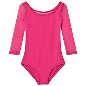 Bloch Girls All in ones Pink Pink Duron Vine Flock Back 3/4 Sleeve Leotard