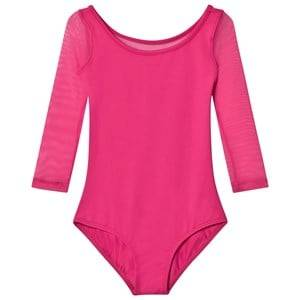 Image of Bloch Girls All in ones Pink Pink Duron Vine Flock Back 3/4 Sleeve Leotard