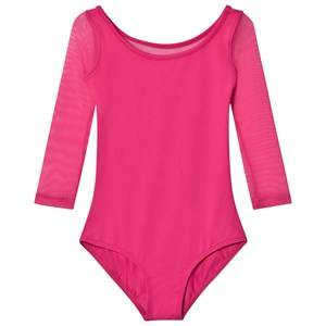 Bloch Girls All in ones Pink Pink Duron Vine Flock Back 3/4 Sleeve Leotard