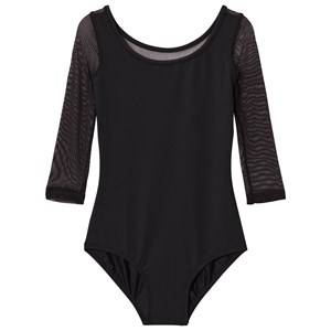 Bloch Girls All in ones Black Black Duron Vine Flock Back 3/4 Sleeve Leotard