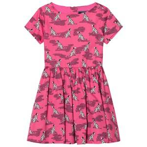 Image of Lands End Girls Dresses Pink Pink Dalmatian Print Woven Twirl Dress