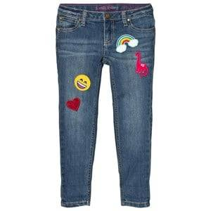 Lands End Girls Bottoms Blue Wash 5 Pocket Girlfriend Fit Jeans