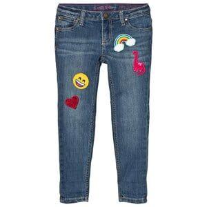Lands End Girls Bottoms Blue Blue Wash 5 Pocket Girlfriend Fit Jeans