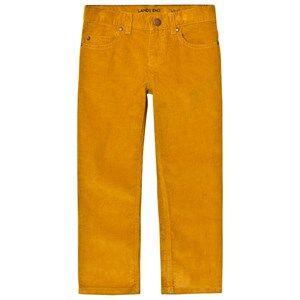 Lands End Boys Bottoms Beige Dried Mustard 5 Pocket Corduroy Trousers