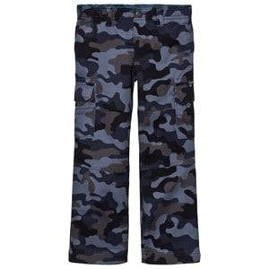 Lands End Boys Bottoms Grey Dark Grey/Blue Camo Pants