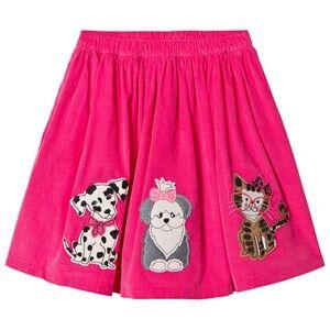 Lands End Girls Dresses Pink Pink Dog and Cat Applique Midi Skirt