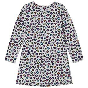 Lands End Girls Dresses Multi Grey Multi Leopard Print Pattern Knit Twirl Dress
