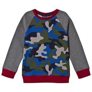 Lands End Boys Jumpers and knitwear Blue Blue Camo Print Sweatshirt