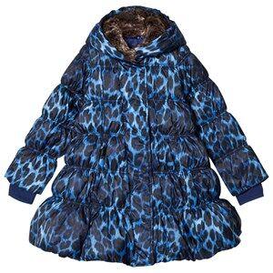 Lands End Girls Coats and jackets Blue Blue Leopard A-Line Down Coat
