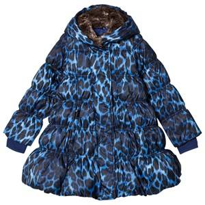 Lands End Girls Coats and jackets Blue Blue Leopard A-Line Down Coat