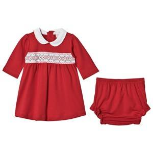 Kissy Kissy Girls Dresses Red Red Smock Holiday Dress