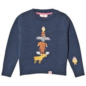 Tootsa MacGinty Unisex Jumpers and knitwear Navy Alberta Totem Knit Jumper True Navy