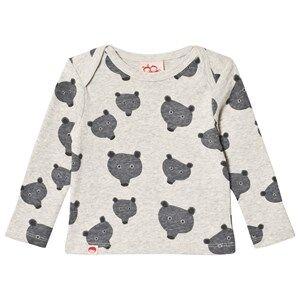 Tootsa MacGinty Unisex Tops Grey Grey Bear Print Allover T-Shirt