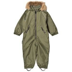 Ticket to heaven Unisex Coveralls Green Snowsuit with Detachable Hood Four Leaf Clover
