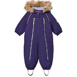 Ticket to heaven Unisex Coveralls Purple Snowsuit Baggie with Detachable Hood Purple
