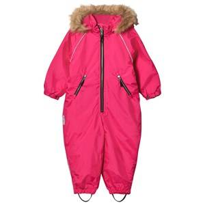 Ticket to heaven Unisex Coveralls Pink Snowsuit with Detachable Hood Pink