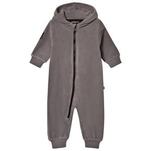 The BRAND Unisex Private Label Fleeces Grey Bolt Fleece Onesie Graphite Grey
