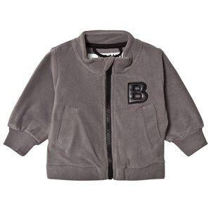 The BRAND Unisex Private Label Fleeces Grey Bolt Fleece Sweater Graphite Grey