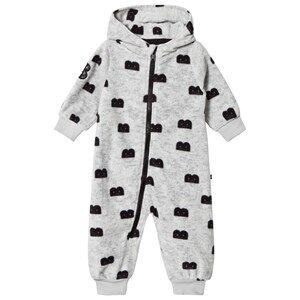 The BRAND Unisex Private Label Fleeces Grey B-Moji Fleece Onesie Grey Melange