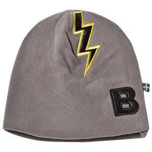 The BRAND Unisex Private Label Headwear Grey Bolt Fleece Hat Graphite Grey