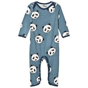 Småfolk Boys All in ones Blue Blue Panda Print One-Piece