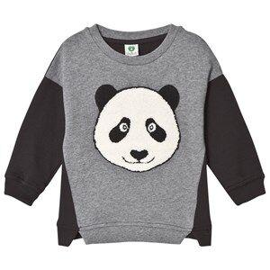 Småfolk Boys Jumpers and knitwear Grey Grey Panda Sweatshirt