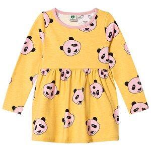 Småfolk Girls Dresses Yellow Yellow Panda Print Dress