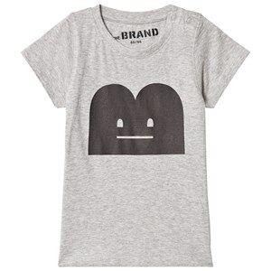 The BRAND Unisex Private Label Tops Grey B-Moji Tee Grey Melange