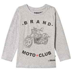 The BRAND Boys Private Label Tops Grey Moto Club Tee Grey Melange