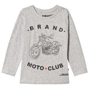 The BRAND Boys Private Label Tops Grey Moto Club Tee Grey Melange