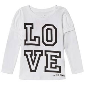 The BRAND Girls Private Label Tops White Love Kiss Tee White