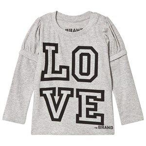 The BRAND Girls Private Label Tops Grey Love Kiss Tee Grey Melange