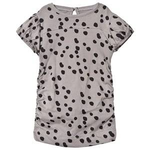 The BRAND Girls Private Label Tops Grey Draped Tee Grey Dot