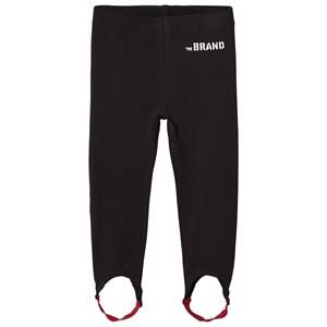 The BRAND Girls Private Label Bottoms Black Leggings with Elastic Straps Black