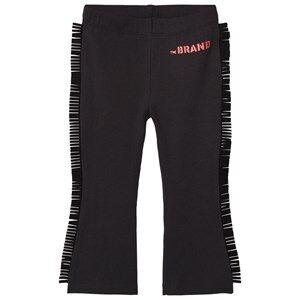 The BRAND Girls Private Label Bottoms Black Fringe Leggings Black