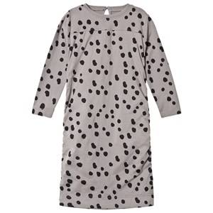 The BRAND Girls Private Label Dresses Grey Draped Balloon Dress Grey Dot