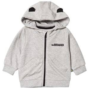 The BRAND Unisex Private Label Jumpers and knitwear Grey Baby Face Hoodie Grey Melange B-Moji