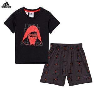 adidas Performance Boys Clothing sets Black Black Star Wars Shorts and Tee Set