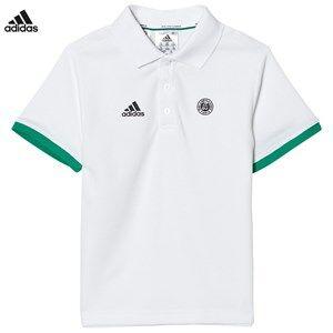 adidas Performance Boys Tops White White Roland Garros Tennis Polo