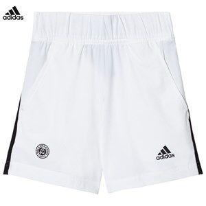 adidas Performance Boys Shorts White White Roland Garros Tennis Shorts