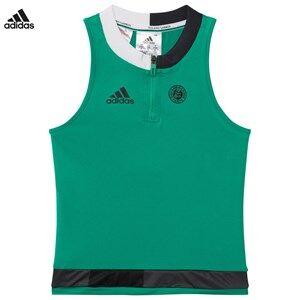 adidas Performance Girls Tops Green Green Roland Garros Tennis Top