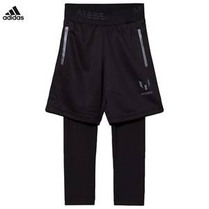 adidas Performance Boys Baselayers Black Messi Two-in-One Pants