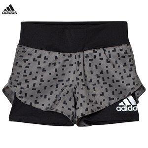 adidas Performance Boys Shorts Grey Grey Printed Running Shorts