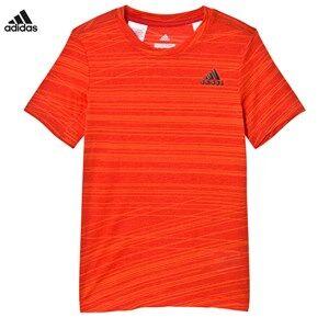 adidas Performance Boys Tops Red Aero Performance Tee Red/Orange